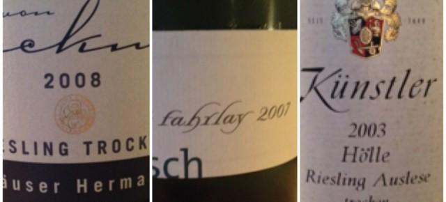 Weinabend Alter Riesling junges Lamm im Essers Gasthaus